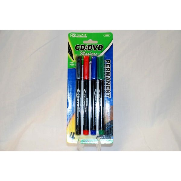 4pk CD/DVD Markers
