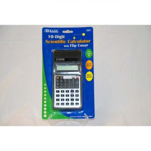 10-Digit Scientific Calculator w/Flip Cover