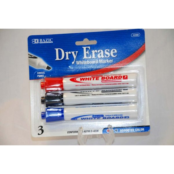 3pk Dry Erase Marker (Ass. Colors)