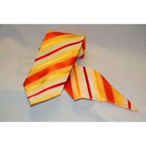 Mens Woven Tie Set w/Design