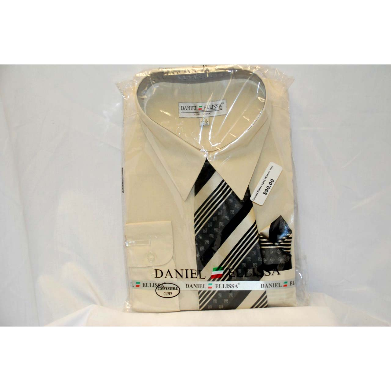 3pc Mens Shirt w/Woven Tie