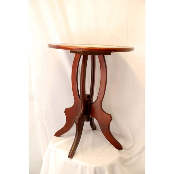 Wooden Table w/ Marble Center