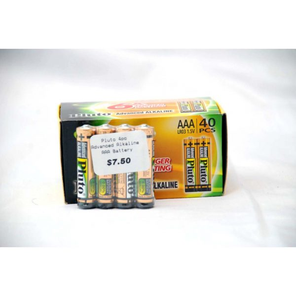 4pk Advanced Alkaline Batteries AAA