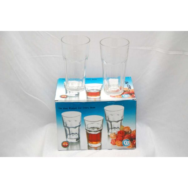 6pc Large Drinking Glasses
