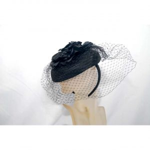 Ladies Hat w/veil & headband
