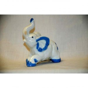 Porcelain Elephant Ornament