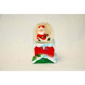 Santa in Ball Ornament