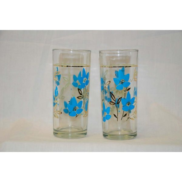 Single Glass w/ flowers