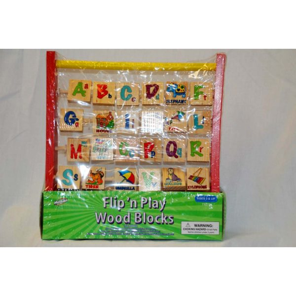 Flip n' Play Wooden Block