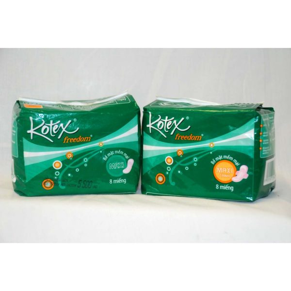 Kotex with & without Wings